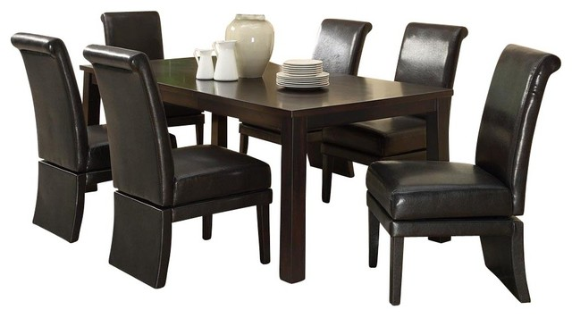 Dining room sets with swivel chairs