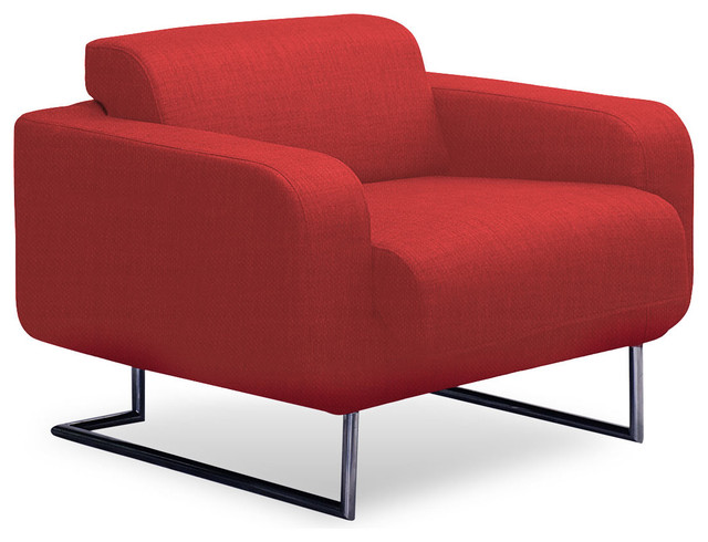 Camden Red Lounge Chair modern-armchairs