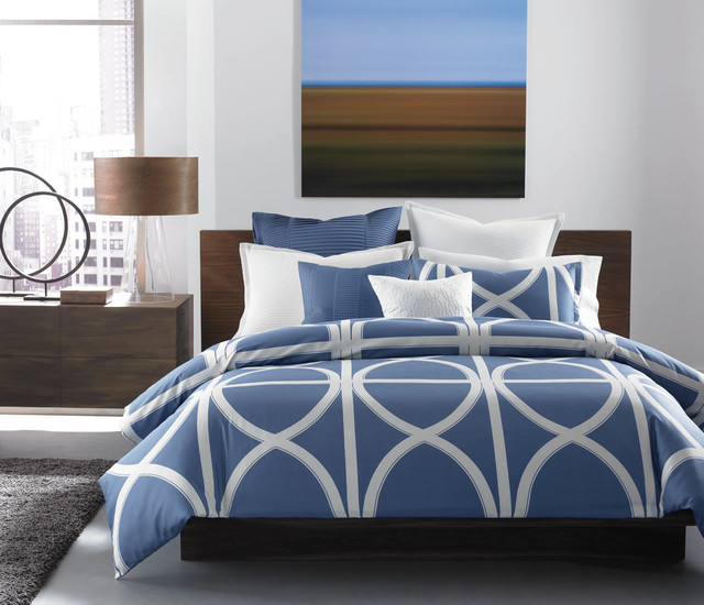 Hotel Collection Bedding Transom Blue