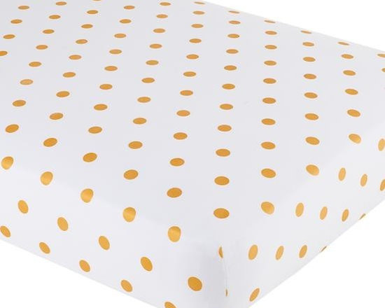 Marine Queen Crib Fitted Sheet, Gold -