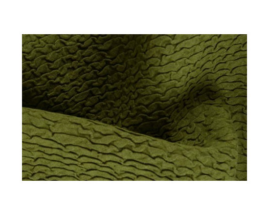 Matelasse Wave Upholstery Fabric in Oliv - Matelasse Wave Upholstery Fabric in Olive. Linen Blend Olive Green Upholstery Fabric ideal for reupholstering sofa or chairs, bedding, drapery, or accent pillows.