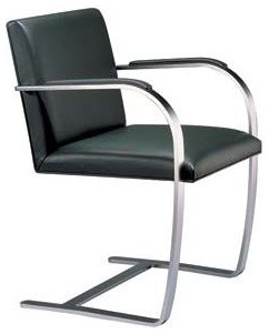 Flat Bar Brno Chair with Armpads modern-armchairs-and-accent-chairs