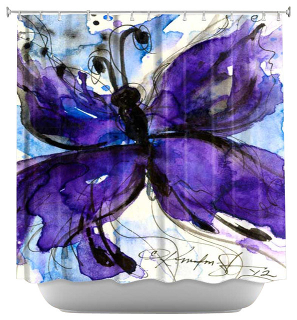 Shower Curtain Artistic - Butterfly Song IV contemporary-shower-curtains