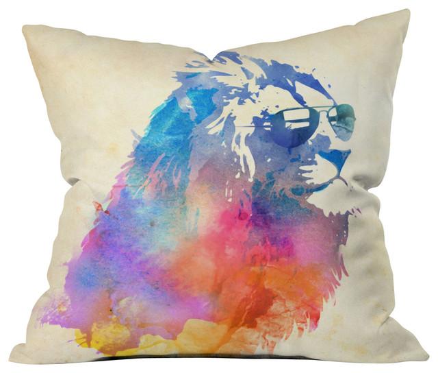 Robert Farkas Sunny Leo Outdoor Throw Pillow eclectic-outdoor-pillows