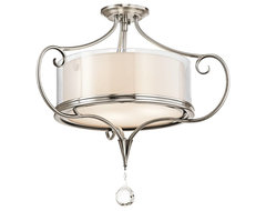 Kichler Lara Semi-Flush Mount Ceiling Fixture in Classic Pewter traditional-ceiling-lighting