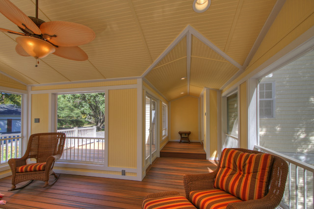 Screen Porch Addition with a Deck porch