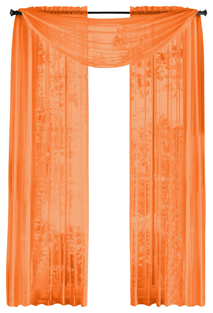 of sheer panels window treatment curtains orange traditional curtains