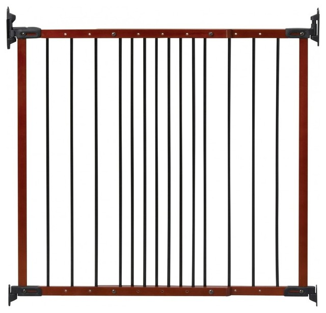 Designer Angle Mount Wood Safeway Baby Pet Gate Cherry