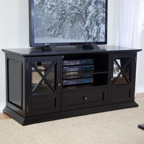 Finley Home The Hampton 55 inch TV Stand - Black modern-media-storage