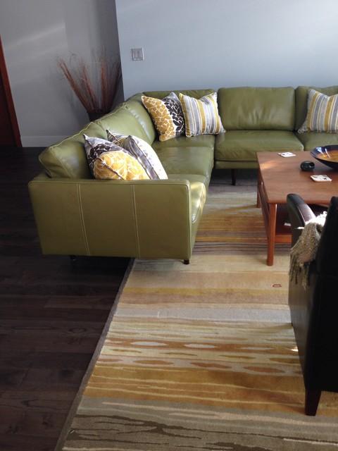 Custom Cushions contemporary-living-room