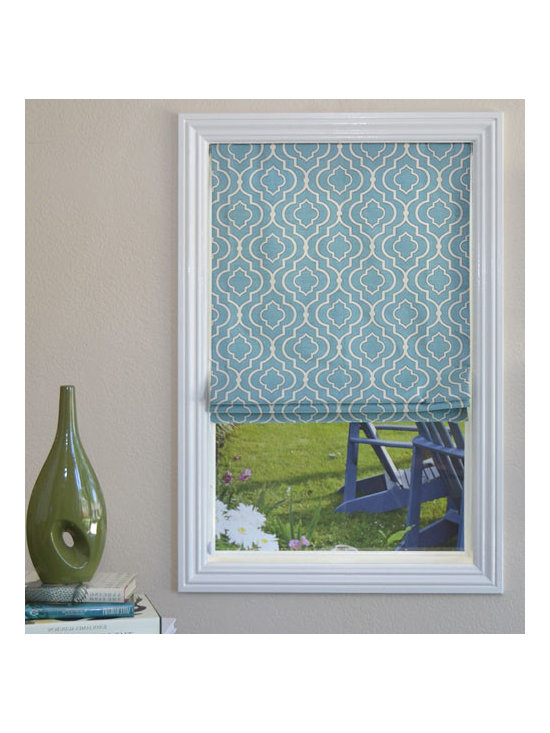 Blindsgalore - Blindsgalore Designer Roman Shades: Statement Patterns - Blindsgalore® Designer Roman Shades: Statement Patterns are from premium fabrics and classical workroom construction, our Blindsgalore Designer Roman Shades offer high-end decorator quality at a budget-friendly price.