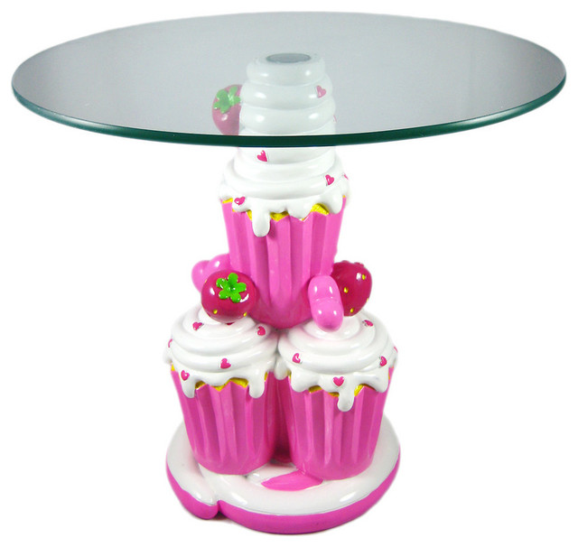 Cute Strawberry Cupcake Child Size Glass Top Table  : contemporary kids tables from www.houzz.com size 640 x 606 jpeg 57kB