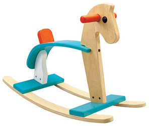 Plan Toys' Arabian Rocking Horse contemporary-kids-toys-and-games