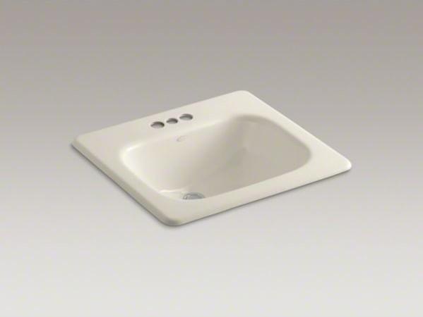 "KOHLER Tahoe(R) drop-in bathroom sink with 4"" centerset faucet holes contemporary-bathroom-sinks"