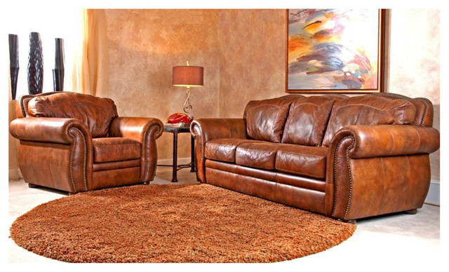 Western leather sofa western leather furniture rustic living room sofas thesofa for Western couches living room furniture