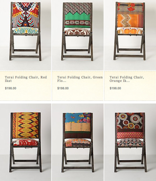 Terai Folding Chair eclectic-folding-chairs-and-stools