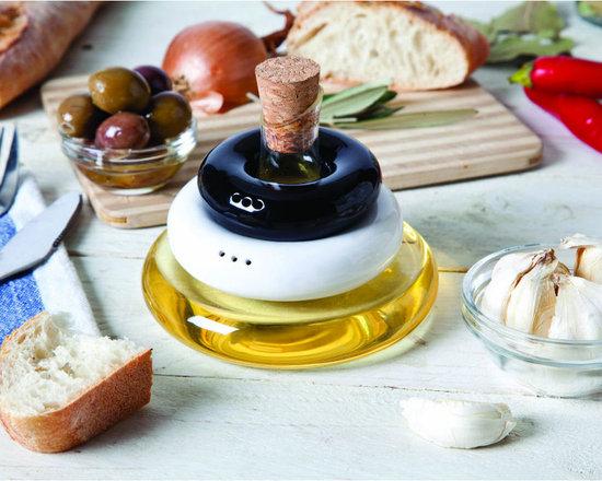Table Set: Salt, Pepper and Olive Oil -