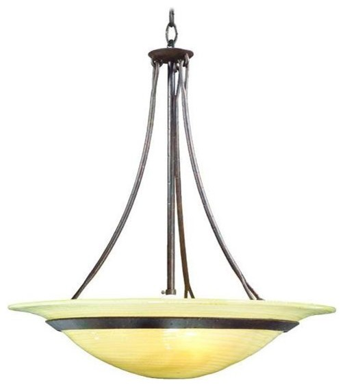 VENETTO OLD IRON 3LT HANGING PENDANT traditional-pendant-lighting