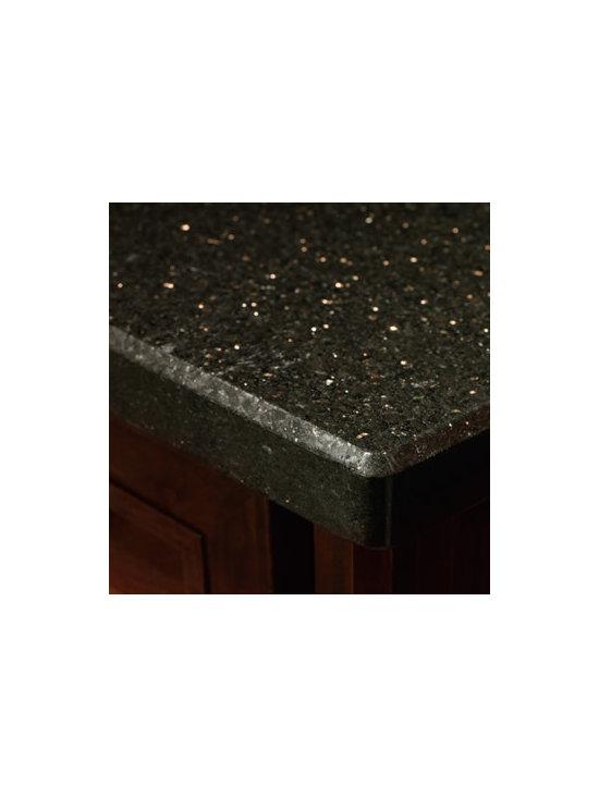 Countertop - DeNova® countertop in Black Galaxy Granite.