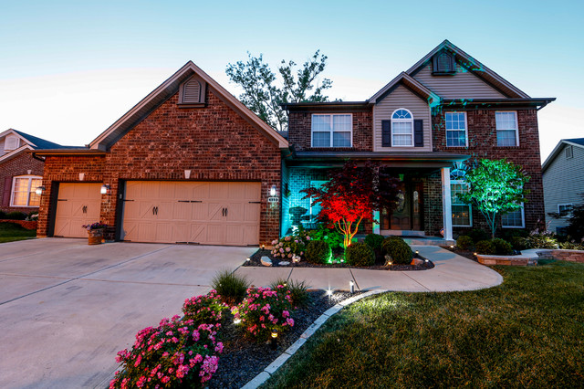 Led home exterior path and accent lighting traditional Exterior accent lighting for home