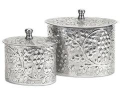 Burgess Aluminum Boxes - Set of 2 traditional-storage-boxes