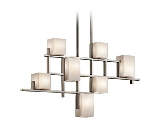 "Kichler City Lights Steel 34.5"" Long Chandelier -"