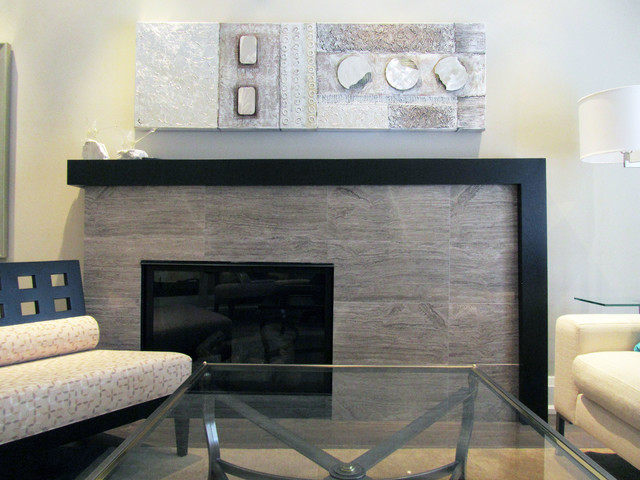 Hoggs Hollow Home contemporary-indoor-fireplaces