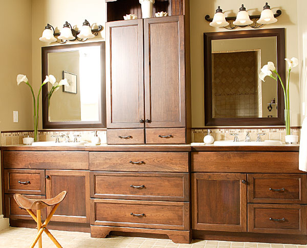 Traditional for Bathroom vanity storage tower