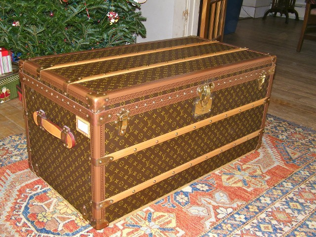 Like New Louis Vuitton Steamer Trunk traditional-decorative-trunks