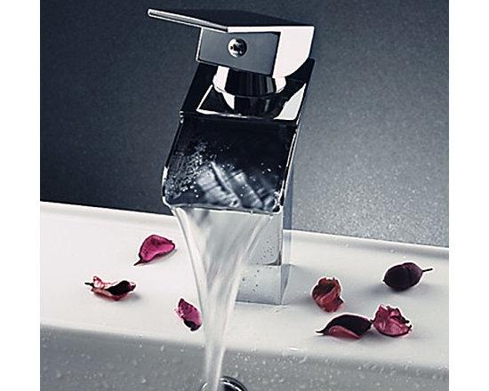 Modern Chrome Finish Deck Mounted Sink Faucet - Item #: FAU0302085