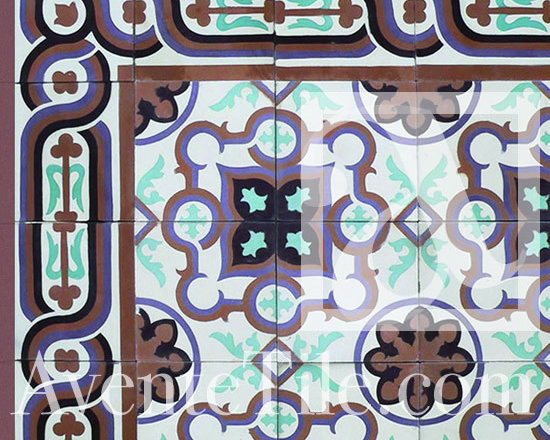 "Traditional Puerto Plata Cement Tile 8"" x 8"" -"