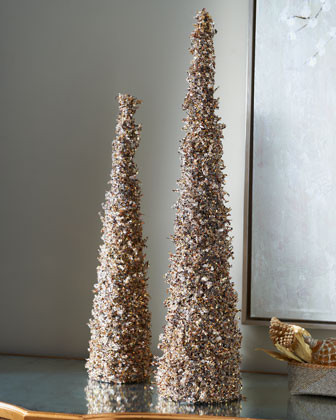 Beaded Cone Christmas Tree Traditional Holiday Decorations