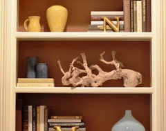Bookcase Accessorizing eclectic
