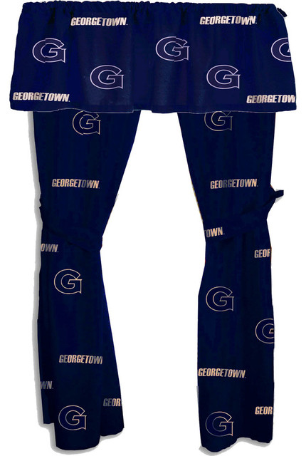 NCAA Georgetown Drape Valance Set Collegiate Window Decor modern