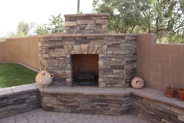 Cliff Ledge, Mazatlan. fireplaces