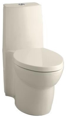 KOHLER K-3564-47 Saile Elongated One-Piece Toilet with Dual Flush Technology and traditional-toilets