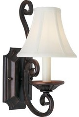 Maxim 12217OI Oil Rubbed Bronze Up Lighting Wall Sconce from the Manor Collectio