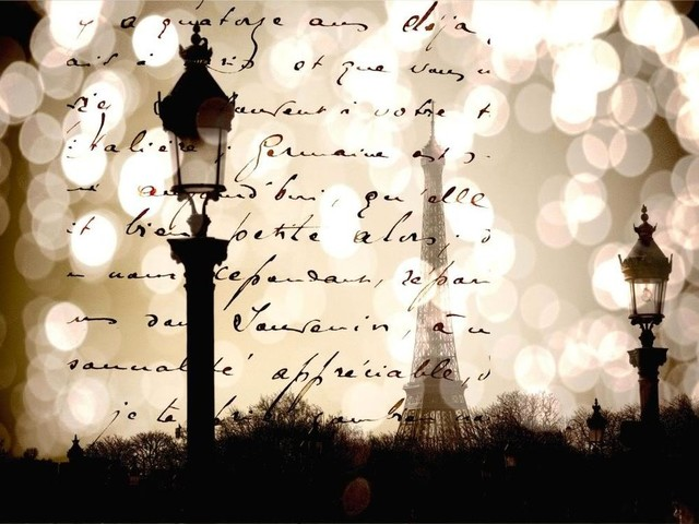 """Wall Prints - Parisian Letters - 24""""x36"""" contemporary-prints-and-posters"""