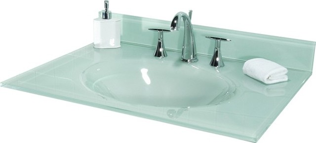 Sink Bowls On Top Of Vanity : ... Top in White with Integral Bowl traditional-bathroom-vanities-and-sink