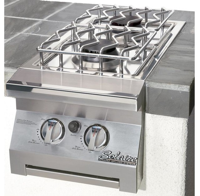 solaire double built in in side burner propane modern