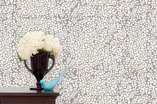 A Stone's Throw Away Wallpaper contemporary-wallpaper