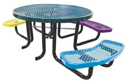 Leisure Craft Childrens Round Accessible Picnic Table modern-kids-tables-and-chairs