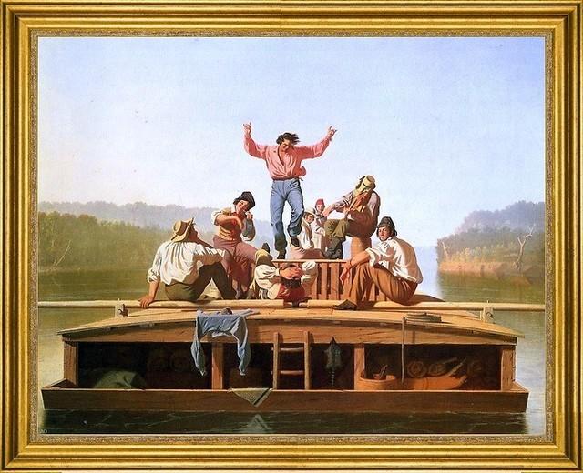 "George Caleb Bingham-18""x24"" Framed Canvas traditional-artwork"