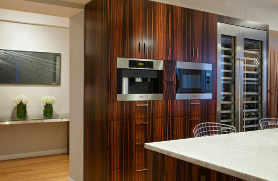 Macassar Ebony Kitchen & Dining Room - Traditional - new york - by Wells Megalli Design