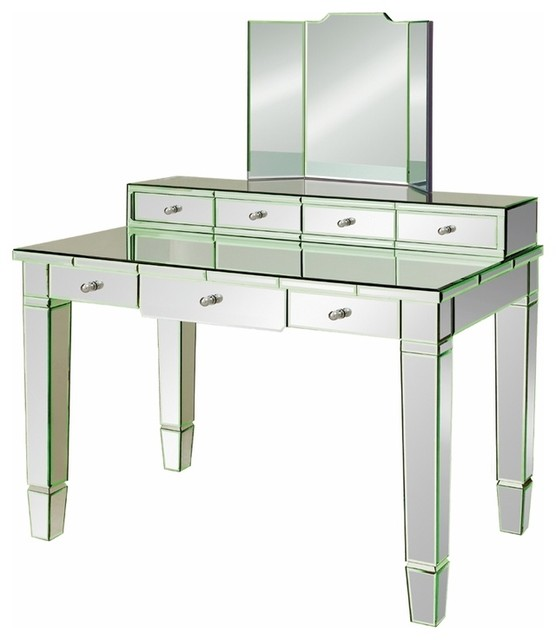 Catherine Vanity Desk Traditional Bedroom Makeup