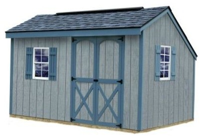 Storage building aspen 8 ft x 12 ft wood shed kit for Garden shed 4x4