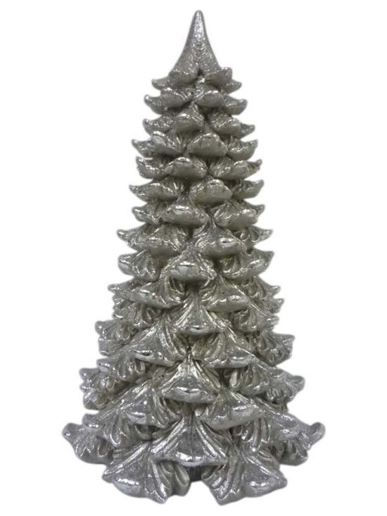 Home Decortaors Collection 16.5 Inch Christmas Tree With Champagne Glitter Finis -