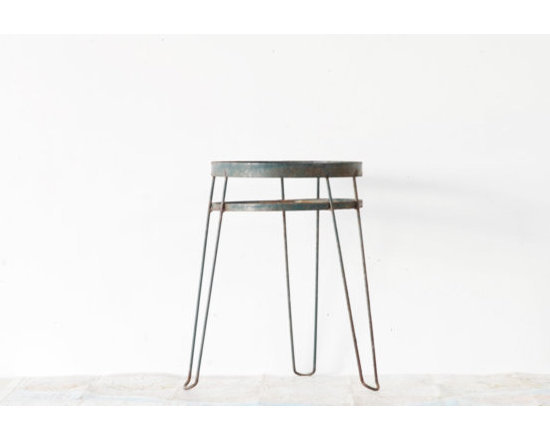Dark Green Midcentury Hairpin Wire Plant Stand by A Living Space -