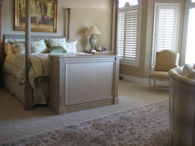 TV Lift Cabinet at Foot of the bed. TV lift cabinets by Cabinet Tronix - Transitional - Bedroom ...