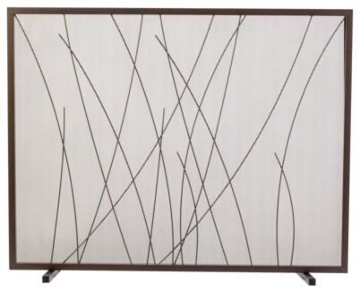Threshold Waving Grass Flat Screen, Brown modern-fireplace-accessories